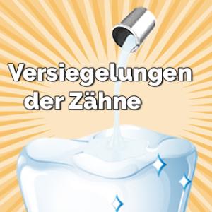 Versiegelungen der Zähne